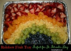 This Rainbow Fruit Platter is so easy to make and a healthy treat for St Patrick's Day