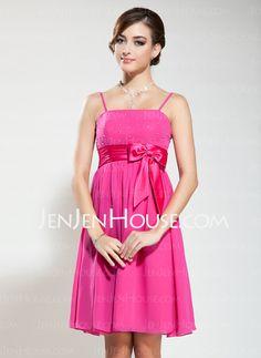Bridesmaid Dresses - $92.99 - Empire Sweetheart Knee-Length Chiffon Charmeuse Bridesmaid Dresses With Sash Beading (007020883) http://jenjenhouse.com/Empire-Sweetheart-Knee-length-Chiffon-Charmeuse-Bridesmaid-Dresses-With-Sash-Beading-007020883-g20883