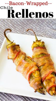 Bacon Wrapped Chile Rellenos | homemadeforelle.com  #bacon #chile