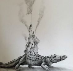 Whimsical Hand Drawn Animals in Black and White by Adonna Khare