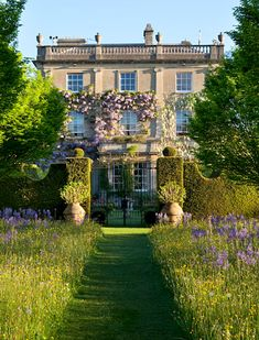 English country house.meadow garden. HIGHGROVE, england