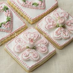Tufted Heart cookie art tutorial by Bobbie Noto. Awesome recipe and terrific video that walks through this impressive cookie!