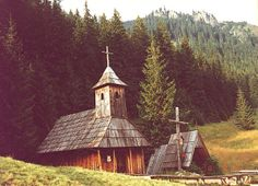 Zakopane, on the edge of the Tatra Mountains, has several beautiful wooden churches. This example dates from  c1650. Other attractions include: the best mountain hiking and skiing, and the Tatra Folk Museum.