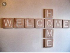 Items similar to Scrabble Wall Art, Welcome Sign, Welcome Home, Large Scrabble Letters, Custom Word Large Scrabble Letters, Scrabble Words, Scrabble Wall Art, Scrabble Tiles, The Chic Site, Welcome Home Signs, Game Room Decor, Wall Decor, Blog Planner