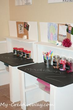 art tables for kids | ... tables has a shelf to hold coloring books and a storage bin for art
