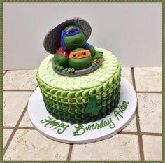 Ombré Teenage Mutant Ninja Turtle cake :)