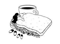"1000drawings: "" Breakfast Included by Henn Kim """
