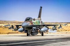 Loaded for Bear, Israeli Air Force Sufa (storm). Military Jets, Military Weapons, Military Aircraft, Fighter Aircraft, Fighter Jets, Airplane Fighter, F 16 Falcon, Jet Plane, Aviation Art