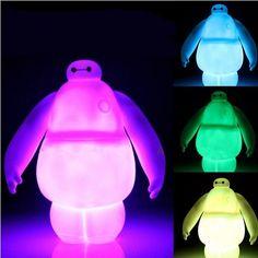 Lovely Luminous Genuine Brand Funko POP Big Hero 6 Baymax PVC Action Figure Toy 16cm Fat Balloon Man Vinyl Doll Toys