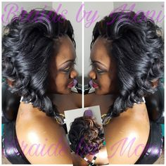 59 Ideas Crochet Hair Styles For Black Women Kima Curly Crochet Hair Styles, Curly Hair Styles, Natural Hair Styles, Weave Hairstyles, Pretty Hairstyles, Permed Hairstyles, Braids For Long Hair, Curly Braids, Summer Braids