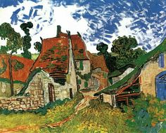 Vincent Van Gogh, Rue à Auvers, 1890. Helsinki, Ateneumin Taidemuseuo.