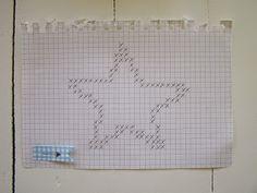 Mit lille eksperiment med en stjerne på karkluden...   Det er første gang jeg prøver at hækle motiver, men på trods af nogle småfejl sy...