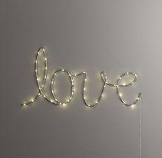 """Starry Light Wall Décor """"Love"""""""