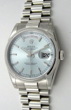 Rolex day date with ice blue dial