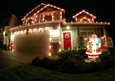 Outdoor christmas lights ideas for the roof outdoor christmas santa luminoso santa luminoso more information more information the best 40 outdoor christmas lighting ideas aloadofball Images