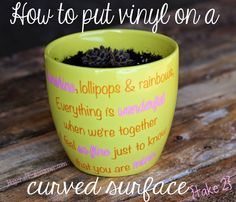 Craft-e-Corner Blog * Celebrate Your Creativity: How to Put Vinyl on A Curved Surface - Take 2