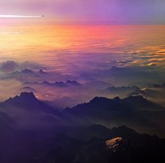 Flying to somewhere by Antonio Zarli   Flying over Alps at sunrise