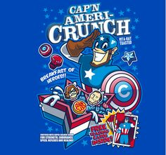Cap'n Ameri-Crunch is obviously the breakfast of heroes  by Bamboota and Elliot Fernandez