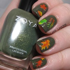 Lavish Layerings: CYNA Fall-ing for Nail Art Challenge: Fall Leaves/Trees featuring Born Pretty Store Water Decals