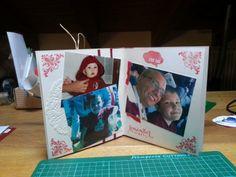 un biglietto di auguri/minialbum speciale per mio marito tifosissimo granata: pagina minialbum dedicata alle foto