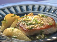 Pork Chops with Pear & Ginger Sauce  | KitchenDaily.com