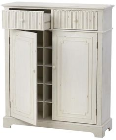 """Manor Shoe Cabinet - Home Decorators Colletion.  Also available in Washed Oak.  50""""Hx42""""Wx14""""D.  $499 retail."""