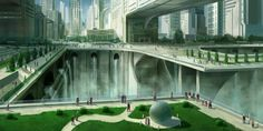 Futuristic city 2 by JoakimOlofsson.deviantart.com on @deviantART