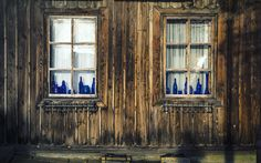 Windows 2 and old blue glass