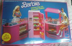 Loved this kitchen. Barbie doesn't get nearly as much cool stuff now as she used to. :(