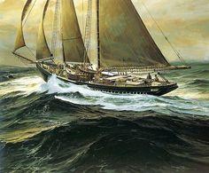 Frances P Mesquita painting by Thomas Hoyne, 1979 Shivaji Maharaj Wallpapers, Boat Wallpaper, Nautical Painting, Honfleur, Ship Paintings, Naval, Marine Boat, Le Havre, Sea Art