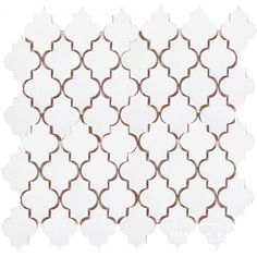$25.80 12x12 Mesh Mounted Mamounia Ceramic Tile 3x4 Mosaic - Snow White