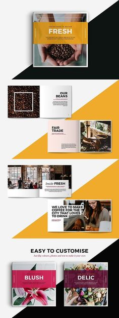 Design a stunning brochure in minutes. Get Brochure Design Services here. Showcase your business, products, and services when you create custom brochures. Brochure Indesign, Template Brochure, Indesign Templates, Brochure Layout, Leaflet Layout, Brochure Ideas, Web Design, Layout Design, Page Design