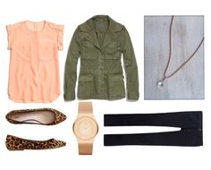 Rose Gold Fall Outfit...love the army green jacket