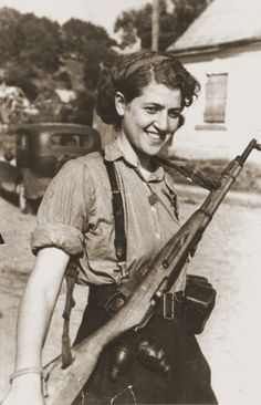 """""""I don't think a survivor is a hero. A hero is a person who tried and didn't survive. To survive was accidental; it was pure luck. This is the reality of the Holocaust."""" Sara Ginaite-Rubinson, author of Resistance and Survival Women In History, World History, Jewish History, Female Fighter, Female Soldier, The Victim, Military Women, Civil War Photos, Photography"""