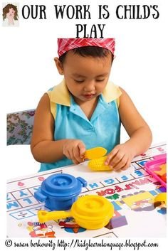 Kidz Learn Language: But All You Do Is Play! Why play is important in building a child's language. Speech Language Therapy, Speech And Language, Speech Therapy, Toddler Language Development, Communication Development, Receptive Language, Special Needs Students, Early Intervention, Literacy Skills