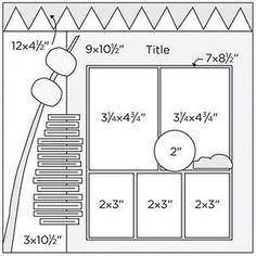 Scrapbook Page Sketch 365