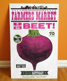 Olde Worthington's Farmers Market. By Will Ruocco and Igloo Letterpress.