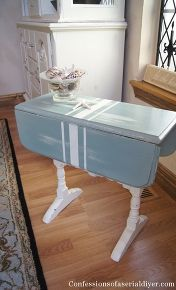 7 yard sale table redo, chalk paint, painted furniture