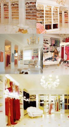 every girl needs a walk in closet and walllllls of shoes!