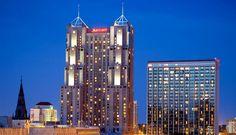 San Antonio Marriott Rivercenter--we stay here every christmas....great family memories!