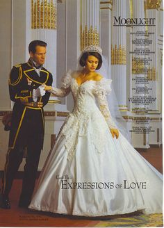 Moonlight bridal gown ad from the 1990s