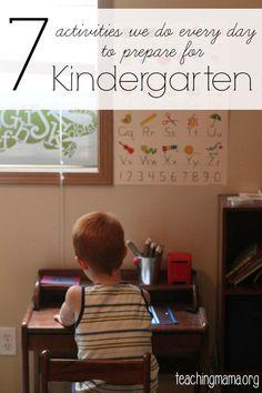 7 Activities We Do Every Day to Prepare for Kindergarten