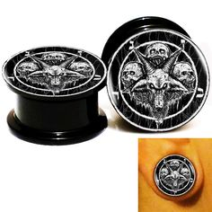 Find More Body Jewelry Information about Wholesale 20pcs/lot Baphomet Skull Logo Ear Gauge Plug Tunnel Stretcher Expander Screw Fit Plug 6m 25mm Free Shipping 12,High Quality screw titanium,China screw Suppliers, Cheap plug key from DreamFire Store on Aliexpress.com