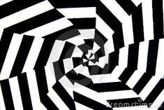 A black and white painted op art background