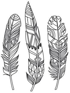 Ideas Tattoo Feather Color Urban Threads For 2019 Urban Threads, Feather Painting, Feather Art, Tattoo Feather, Feather Design, Mandala Feather, Feather Stencil, Feather Drawing, Paper Embroidery