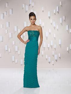 Chic sleeveless A-line floor-length bridesmaid gowns