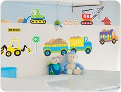 These wall stickers have lots of trucks & diggers to make a cool construction boy's rooms. Buy boys wall stickers today and get fast shipping worldwide.