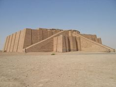 ziggurat of ur nammu. 2110-2095 BC. Built by Ur-Nammu. Would have been about 15 meters high. 3 staircases, 3 platforms. Well preserved for a building of its type. Mudbrick.