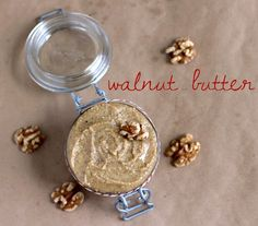 EASY Healthy Homemade Walnut Butter made all natural, sugar free, low carb, gluten free, and vegan! No hydrogenated oils or trans fats whatsoever!