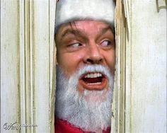 The Shining Jack Santa Noel Christmas, A Christmas Story, Christmas Humor, Christmas Stuff, Christmas Photos, Christmas Ideas, Here's Johnny, Bad Santa, Santa Baby